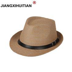 c7ac7cdc Unisex Beach Staw Sun Hats Stylish Women Men Panama Jazz Hats Cowboy  Gangster Cap with Black Belt 2018 Hot Sales Caps 13 color [orc32856738198]  - $22.27 : ...