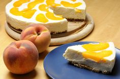 Peach Cheesecake, Cheesecake Recipes, Biscuits Graham, Cafe Shop, Food Lists, Grocery Store, Special Occasion, Goodies, Cooking Recipes
