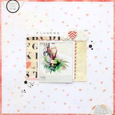 Embellishments: Hello Friend: whatnots, peek-a-boos, paper layers, title stickers; Yours Truly: paper layers, rubber stamps; teeny alphas Papers: Hello Friend: 6″ paper pad; polka, stripe