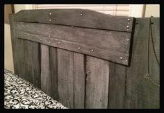 Reclaimed Rustic Distressed Pallet Headboard by OohGeeoriginals