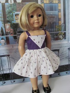 b381a30e280 Sundress Ruffled Sundress 18 Inch Doll Clothes by fashioned4you Gathered  Skirt