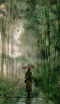 Gök gürlerken bir yağmur bulutuna tutunmaya çalışmak gibi sana tutunmaya çalışmak. . . Yağmur