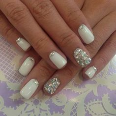 IDEA: Wedding nails I just don't like the ring finger one. I want them all the same