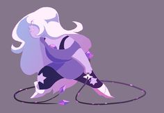 I like all the Crystal Gem gals something fierce, but Amethyst is currently my fave to draw 'w'