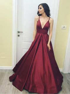 Hot Sale Admirable Evening Dress Simple, A-Line Evening Dress, V Neck Prom Dress, Prom Dress Long V-neck Evening Dress Burgundy Evening Dress A-Line Evening Dress V Neck Evening Dress Long Prom Dress Prom Dresses 2019 Prom Dresses With Pockets, Straps Prom Dresses, Backless Prom Dresses, A Line Prom Dresses, Cheap Prom Dresses, Homecoming Dresses, Dress Prom, Party Dresses, Prom Gowns