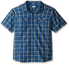 Columbia Men's Big-Tall Silver Ridge Multi Plaid Short Sleeve Shirt -- Additional details at the pin image, click it  : Hiking clothes