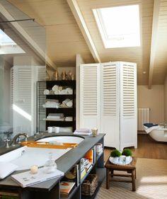 Stebbing House Desing: Un baño parisino en la buhardilla..
