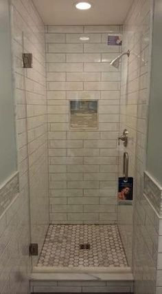 Check out this shower makeover using discounted travertine stone ...