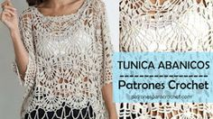 Patrones para Crochet Patrones de T nica de Abanicos Crochet Filet Crochet, Crochet 101, Crochet Patterns, Crochet Hats, Tunic Pattern, Free Pattern, Knitting Magazine, How To Start Knitting, Crochet Clothes