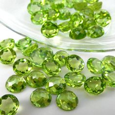 6 mm Round Cut Loose Peridot  Jewelry {my birthstone}