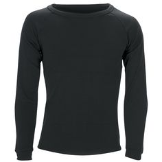 Kids Polypropylene L/Sleeve Crew Neck Top: Black Outdoor Brands, Outdoor Gear, Traditional Fabric, Body Heat, Black Tops, Crew Neck, Unisex, Long Sleeve