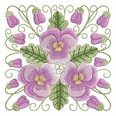 Pansy Beauty 8 - 4x4 | What's New | Machine Embroidery Designs | SWAKembroidery.com Ace Points Embroidery