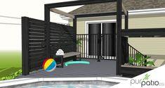 Patio en composite St-Jérôme - Pur Patio St Jerome, Backyard Pool Landscaping, Deck, Landscape, Outdoor Decor, Amelie, Merry, Joy, Home Decor