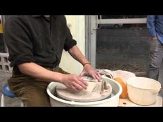 228. Hsin-Chuen Lin Making Various Handles for Mugs at Higher Fire Clay Studio Wednesday Night Class - YouTube