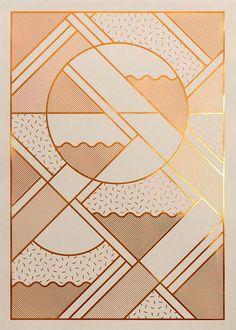 Kristina Krogh Artwork Prints | Levels in beige + copper