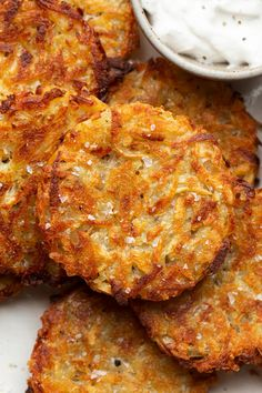 Baked vegan hash browns - Lazy Cat Kitchen - baked vegan hash browns close up - Vegetarian Brunch Recipes, Veggie Recipes, Breakfast Recipes, Hashbrown Breakfast Casserole, Brunch Casserole, Breakfast Hash, Potato Casserole, Potato Soup, Vegan Breakfast