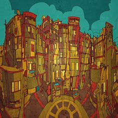 Fantastic Cities A Coloring Book Of Real And Imagined From Around The World