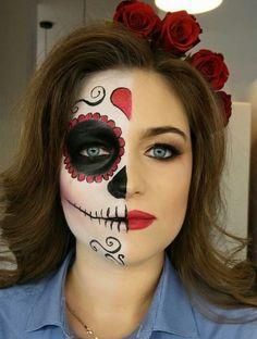 Costume paint halloween face skeleton adult