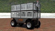 Electric Utility, Electric Motor, Pugs, Truck Boxes, Chain Drive, Workplace, Pallet, Deck, Platform