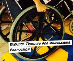 Exercise wheelchair propulsion.>>> See it. Believe it. Do it. Watch thousands of spinal cord injury videos at SPINALpedia.com