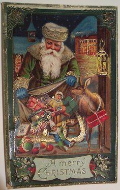 New Ideas Vintage Christmas Santa Collage Sheet Vintage Christmas Images, Old Christmas, Old Fashioned Christmas, Christmas Scenes, Victorian Christmas, Father Christmas, Vintage Holiday, Christmas Greetings, Christmas Postcards