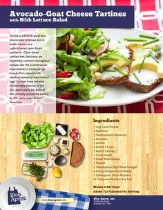 Avocado Goat Cheese Tartines with Bibb Lettuce Salad