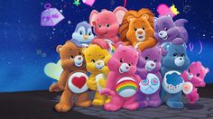 Care Bear Party, Care Bear Birthday, Bear Coloring Pages, Bear Illustration, Bear Wallpaper, Mickey Mouse And Friends, Care Bears, 90s Kids, Teddy Bear Clothes