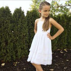 White Chiffon Flower Girl Dress - Toddler Flower Girl Dress - Chiffon Flower Girl - Chiffon Girls Dr Girl Doctor, Toddler Flower Girl Dresses, Chiffon Flowers, White Chiffon, White Dress, Trending Outfits, Casual, Vintage, Girls