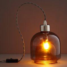 Buy John Lewis Ambience Layer Glass Lamp, Amber Online at johnlewis.com