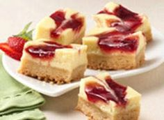 Strawberry Cheesecake Bars - I will be making these for Xmas :)