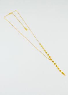Melanie Auld AFLA Disc Lariat Necklace