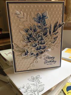 Karten Diy, Stamping Up Cards, Handmade Birthday Cards, Card Maker, Sympathy Cards, Creative Cards, Flower Cards, Diy Cards, Homemade Cards