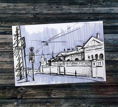 That's a very quick sketch of one of my favourite spots in Moscow. I was living nearby. It's one of a few beautiful pieces of historical part of Moscow which is well preserved. The spot is on a crossroad and on a hill so you could see far in perspective when standing there and it's variously beautiful in different weather and time of the day. And do you find the Moscow an attractive place to visit? ;)