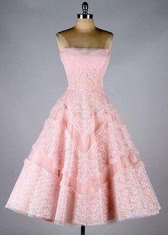 Light pastel pink flared dress | Straight cut dress | A-line pink girly dress