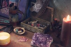 moonlitcottage:  This image is from my blog! The sacred space of Laura from Roots and Feathers. http://moondaughter.com/blog/2013/02/international-self-love-day-love-space.html