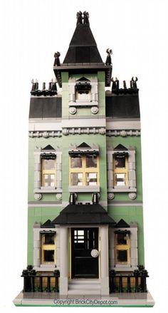 Mansard Row House - Modular Building: A LEGO® creation by Brian Lyles : MOCpages.com