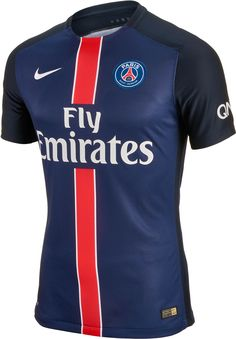 Coming to SoccerPro on May 27th! The new 2015/16 PSG Home Jersey! #PSG