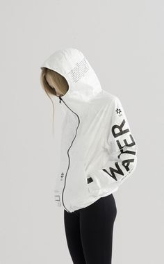 Graphics we like / Rain jacket / Bold Letters / WATER / Fashion / at The Well