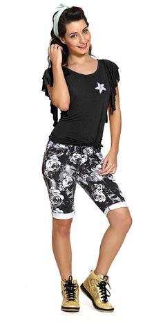 M2A Jeans | Spring Summer 2014 | Teen Girl Lookbook | Pimavera Verão 2014  ♥ flower print; bermuda floral.