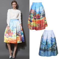 Find More Skirts Information about Women's Skirt New Fashion 2014 Autumn Winter Vintage Print Ball Gown Pleated Midi Skater Skirt Saia For Women Girl 141028,High Quality skirt overalls,China skirt silk Suppliers, Cheap skirt tights from CHIC-ING  on Aliexpress.com