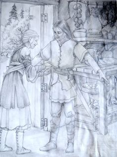 Old Prydain Stuff: Hero's Sword, version one by saeriellyn.deviantart.com on @deviantART . Chronicles of Prydain fanart. Eilonwy and Taran.
