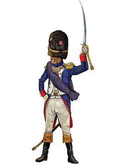 """""""Capitano del 3º reggimento dei granatieri a piedi della Guardia imperiale, Waterloo 1815"""", Giorgio Albertini"""