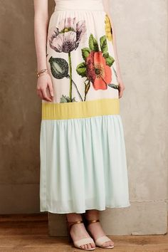 Botanique Maxi Skirt - anthropologie.com