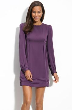 Love the color, & I love that it's long sleeves! Cute long sleeve dresses are so hard to find.