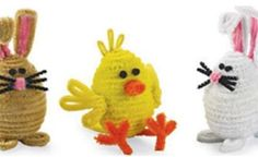 Las Vegas Michaels - The Knack - project: chenille stem bunny and chick Easter Crafts For Toddlers, Easter Arts And Crafts, Bunny Crafts, Spring Crafts, Holiday Crafts, Holiday Fun, Crafts For Kids, Diy Crafts, Easter Party