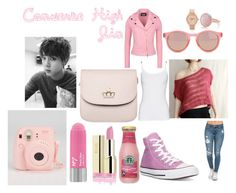 """""""Converse High (Jin)"""" by shesadopegirl ❤ liked on Polyvore featuring Splendid, Converse, Le Specs, Nixon, Oasis and Boutique Moschino"""