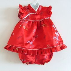 New Baby Girl 1st Birthday Party Dress Traditional by mengmengtree