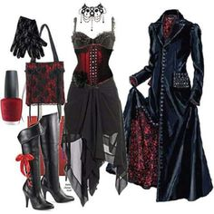 Top Gothic Fashion Tips To Keep You In Style. As trends change, and you age, be willing to alter your style so that you can always look your best. Consistently using good gothic fashion sense can help Mode Alternative, Alternative Fashion, Dark Fashion, Gothic Fashion, Vampire Fashion, Hippie Fashion, 70s Fashion, Style Fashion, Mode Outfits