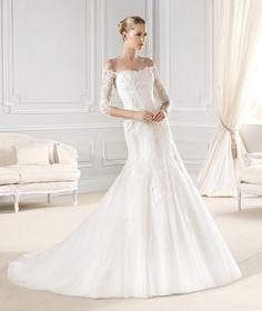 La Sposa- three quarter sleeves lace wedding dress