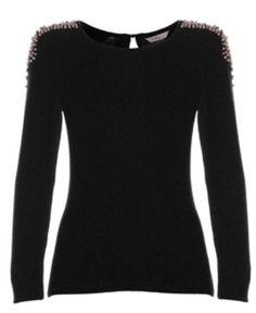 Jewel shoulder jumper Jumper, Jewels, Shoulder, Sweaters, Tops, Fashion, Moda, Sweater, Bijoux